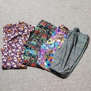 Lularoe Tall & Curvy leggings (5) Five pair